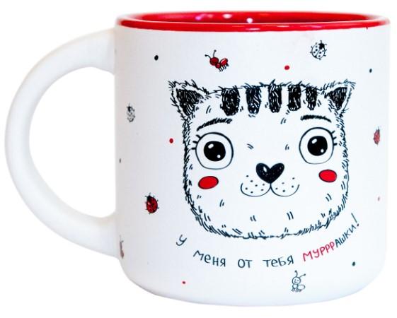 Купить Чашка 'Котик у меня от тебя мурашки' 350 мл (PDP3415), PAPAdesign