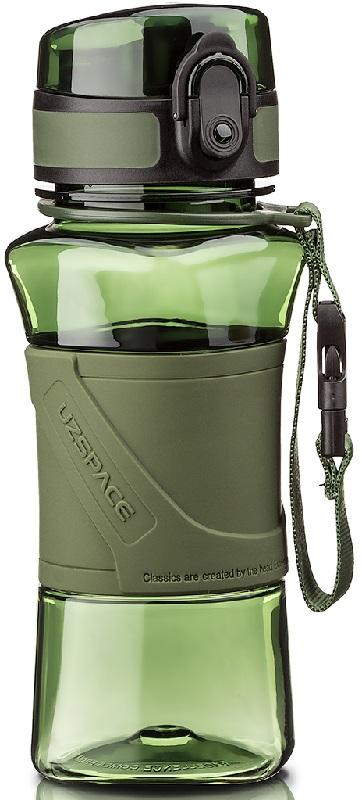 Купить Бутылка для воды спортивная Uzspace (350ml) зеленая (6009green)