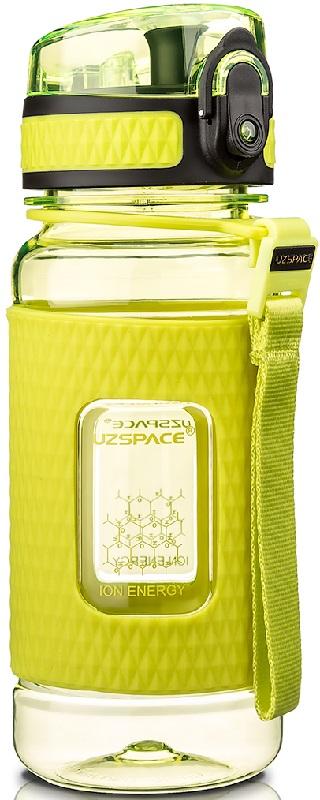 Купить Бутылка для воды спортивная Uzspace (370ml) зеленая (5043green)