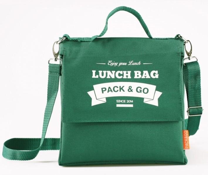Термосумка ланч-бег Pack&Go Lunch Bag L+ з логотипом, зелений