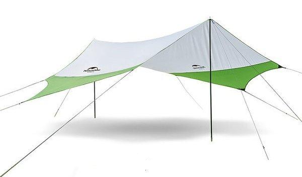 Тент кемпінговий NatureHike 210T polyester 4.0х3.5 м Green (6927595787779)