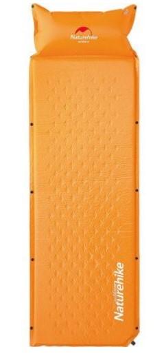 Самонадувающийся кемпінговий килимок NatureHike 'Mat with Pillow' 25 мм,orange (6927595705100)