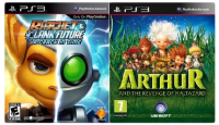 игра Сборник 2в1: Ratchet & Clank: A Crack in Time + Arthur and the Revenge of Maltazard PS3