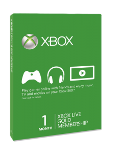 XBoxLive Gold Card 1 месяц
