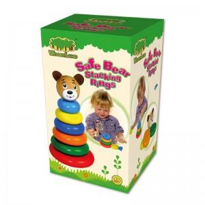 Деревянная игрушка-пирамидка
