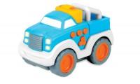 Машинка со звуковыми и световыми эффектами, голубая