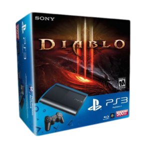 Приставка Playstation 3 Super Slim Bundle (Diablo 3, 2x Skins, 500Gb, CECH-4008C)