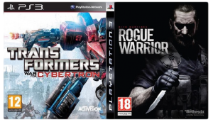 игра Сборник 2в1: Rogue Warrior + Transformers: War for Cybertron PS3