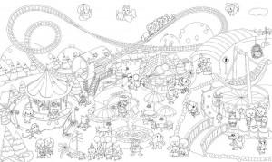 Подарок Обои-раскраски 'Мир чудес' (60 х 100 см)