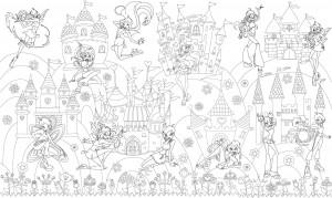 Подарок Обои-раскраски 'Принцессы Винкс' (60 х 100 см)