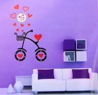 Подарок Объемные часы - наклейка Велосипед