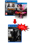 игра Metro: Redux PS4 + InFamous: First Light PS4 + Last of Us: Remastered PS4 - Русская версия