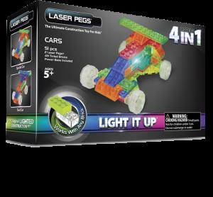 Конструктор Laser Pegs Набор 4 в 1. Гоночный автомобиль (Серия MPS)