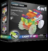 Конструктор Laser Pegs 'Вантажівка-монстр 6 в 1'