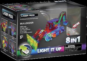 Конструктор Laser Pegs 'Бульдозер 8 в 1'