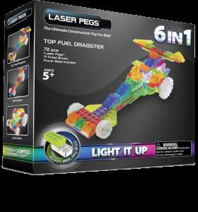 Конструктор Laser Pegs 'Драгстер 6 в 1'