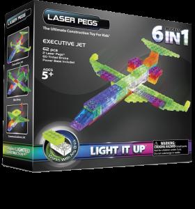 Конструктор Laser Pegs 'Літак 6 в 1'