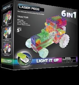 Конструктор Laser Pegs 'Трактор 6 в 1'