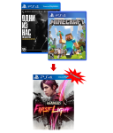 игра The Last of Us Remastered PS4 + Minecraft PS4 + Infamous: First Light PS4