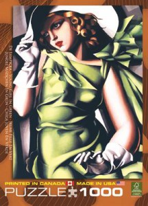 фото Пазл 'Девушка в зеленом Тамар Лемпицка' #2