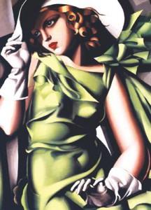 фото Пазл 'Девушка в зеленом Тамар Лемпицка' #3