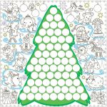 Подарок Обои-раскраски 'Новогодняя Елка с наклейками' (60 х 60 см)
