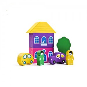 фото Игровой набор 'Цветной городок' фиолетовый #2
