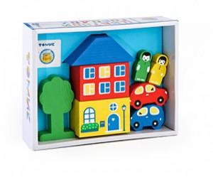 Игровой набор 'Цветной городок' голубой