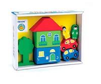 Игровой набор 'Цветной городок' желтый