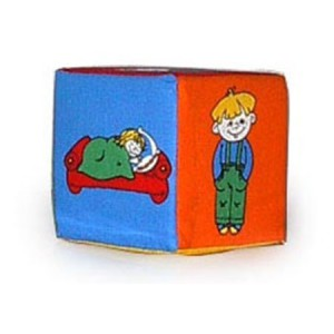 Кубик-погремушка. Дети (изучаем действие)