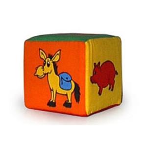 Кубик-погремушка. Животные