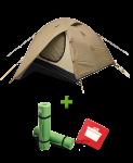 Палатка Terra Incognita Alfa 2 + 2 Каремата в подарок