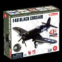 Объемный пазл 'Самолет F4U Black Corsair'