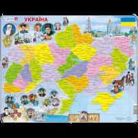 Пазл 'Карта Украины - история'