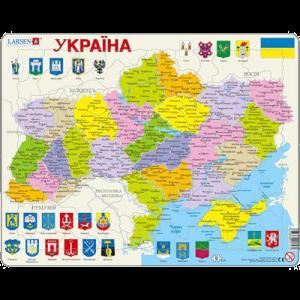 Пазл 'Карта Украины - политическая'