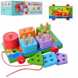 Деревянная игрушка Limo Toy 'Геометрика'  (MD 1262)