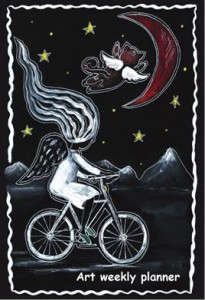 Блокнот-еженедельник 'Аrt weekly planner.  Angel on the moon' А5, 128 с.