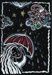 Блокнот-еженедельник 'Аrt weekly planner. Night rain' А5, 128 с.