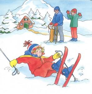 фото страниц Конни катается на лыжах #7