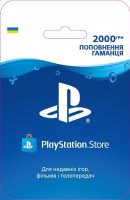 Карта пополнения кошелька PlayStation Store 2000 грн
