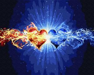 Картина по номерам Brushme 'Стихия сердец' (GX30107)