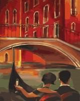 Картина по номерам Brushme 'Влюбленные на гондоле' (GX29731)