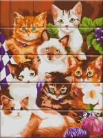 Картина по номерам по дереву Art Story 'Котята' (ASW017)