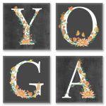 Набор для росписи по номерам Идейка Yoga лофт 18х18 см х 4 шт. (CH118)