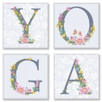 Набор для росписи по номерам Идейка Yoga прованс 18х18 см х 4 шт. (CH116)