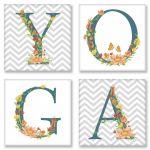 Набор для росписи по номерам Идейка Yoga сканд. 18х18 см х 4 шт. (CH117)