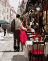 Картина по номерам Brushme 'Пара в Париже' (GX3562)