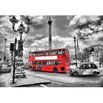 Картина по номерам Идейка Городской пейзаж 'Яркий автобус' 35х50 см (KHO2146)