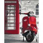 Картина по номерам Идейка Городской пезаж 'Легендарная Vespa' 40х50 см (KHO2155)