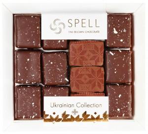 Подарок Ассорти конфет Spell с маком, клюквой и орехом 180 г